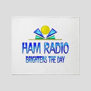Ham Radio Brightens the Day Throw Blanket