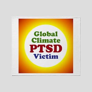 Global Climate PTSD Victim Throw Blanket