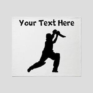 Cricket Player Throw Blanket