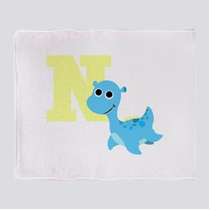 N is for Nessie Throw Blanket
