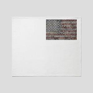 3 percenter flag Throw Blanket