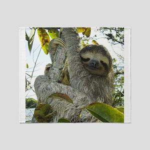 Live Life Like a Sloth Throw Blanket