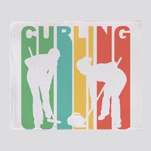 Retro Curling Throw Blanket