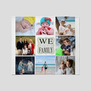 Custom Family Photo Collage Throw Blanket