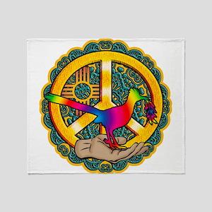PEACE ROADRUNNER Throw Blanket