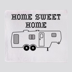 Home Sweet Home Fifth Wheel Throw Blanket