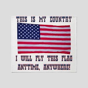 Flag2 Throw Blanket