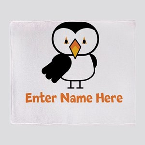 Personalized Puffin Throw Blanket