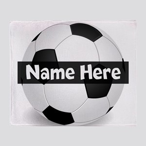 Personalized Soccer Ball Throw Blanket