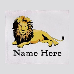 Personalized Lion Throw Blanket