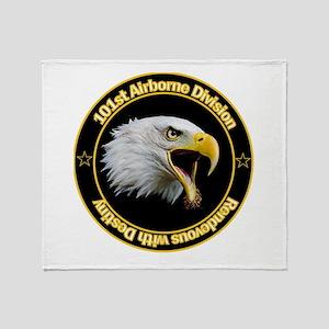 101st Airborne Throw Blanket