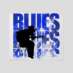 blues guitar Throw Blanket