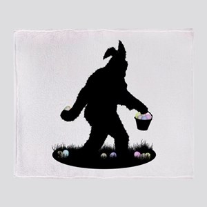 Easter Squatchin Throw Blanket