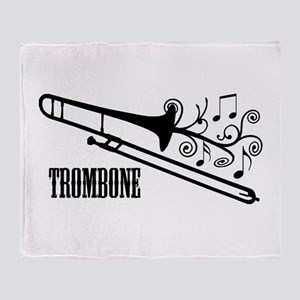 Trombone swirls Throw Blanket