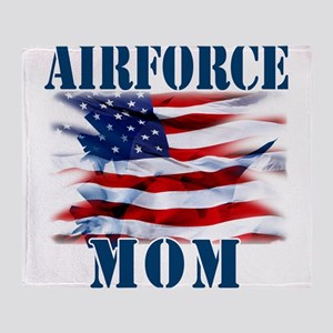 Airforce Mom Throw Blanket