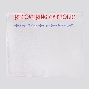 Recovering Catholic 12 Steps Throw Blanket