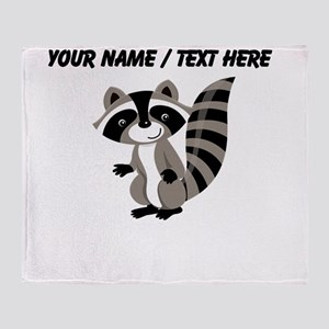 Custom Cartton Raccoon Throw Blanket