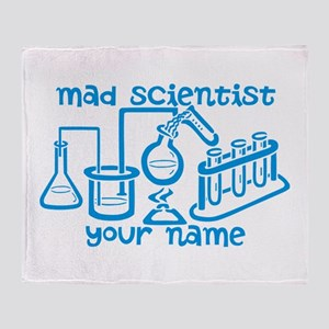 Personalized Mad Scientist Throw Blanket