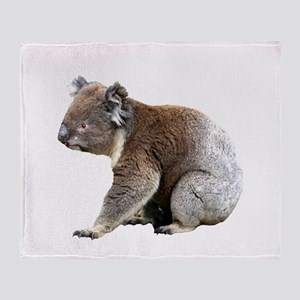 Aussie Koala Bear Cutout Photo Throw Blanket