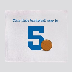 Basketball Star Custom Age Throw Blanket
