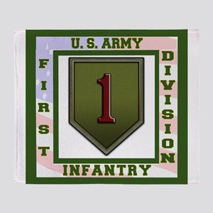 Big Red One Throw Blanket