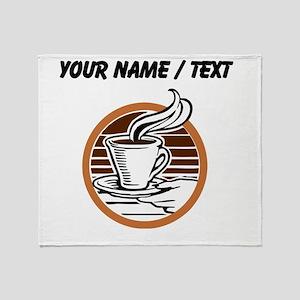 Custom Coffee Icon Throw Blanket