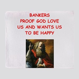 banker Throw Blanket