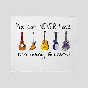 Too many guitars Throw Blanket