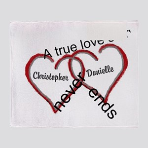 A true love story: personalize Throw Blanket