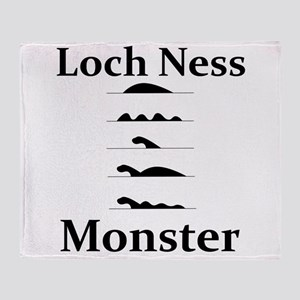 Loch Ness Monster Throw Blanket