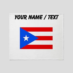 Custom Puerto Rico Flag Throw Blanket