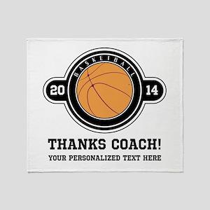 Thank you basketball coach Throw Blanket