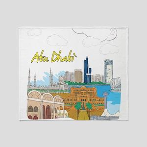 Abu Dhabi in the United Arab Emirates Throw Blanke