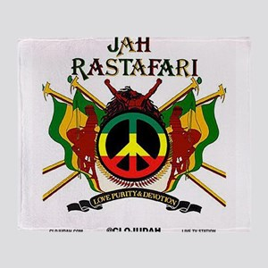 Jah Rastafari Throw Blanket