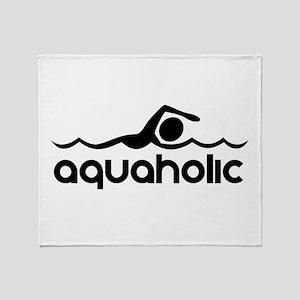 Aquaholic Throw Blanket