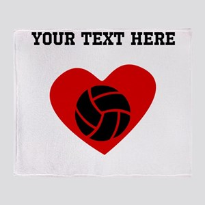 Volleyball Heart (Custom) Throw Blanket
