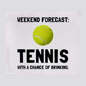 Weekend Forecast Tennis Throw Blanket