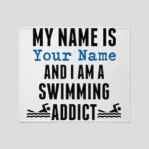Swimming Addict Throw Blanket