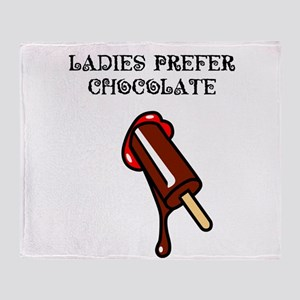 chocolate_1_TSHIRT Throw Blanket