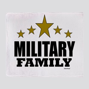 Military Family Throw Blanket