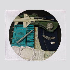 Young Pilot Throw Blanket
