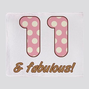 11th Birthday Dots Throw Blanket