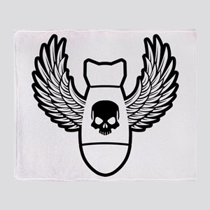 Winged bomb Throw Blanket