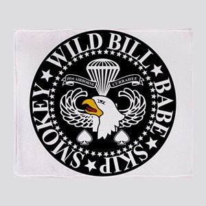 Band of Brothers Crest Throw Blanket