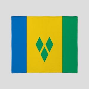 Saint Vincent Grenadines Flag Throw Blanket