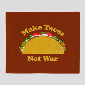 Make Tacos Not War Throw Blanket