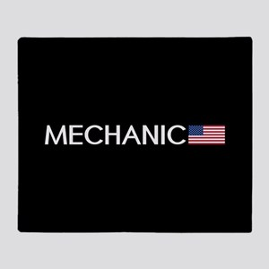 Mechanic: American Flag Throw Blanket