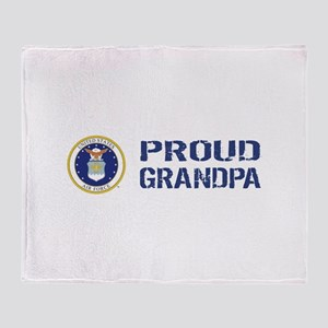 USAF: Proud Grandpa Throw Blanket