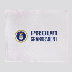 USAF: Proud Grandparent Throw Blanket