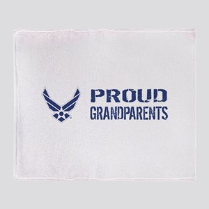 USAF: Proud Grandparents Throw Blanket